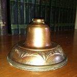 Antique 1920s Industrial Copper Shade for a Lamp or Sconce  Small