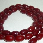 ANTIQUE REAL CHERRY AMBER BEAD NECKLACE