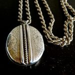 Antique Victorian  Silver Locket & Long rope Chain No Reserve Sale