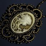 Antique Style Cuty Lady Cameo Pendant Necklace High Quality 20″ C140