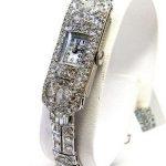 Antique Deco 12.00cts Platinum Diamond Ladies Watch