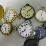 Lot of 6 Pocket Watches  Incl. Elgin, Standard, & More  Parts/Pieces #237C