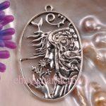 2pcs Antique Silver Beauty Charms CC4808 Free Shipping