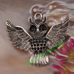 3pcs Antique Silver Owl Charms CC2534 Free Shipping