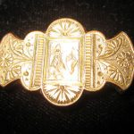 Antique Victorian Etched Lighthouse & Sailboat Gold Filled Pin/Brooch