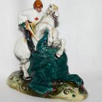 Antique Royal Doulton England Figurine St. George 19501985 Great Condition 71/2
