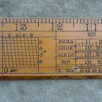 ANTIQUE GUNTER SCALE BELCHER BROS & CO  YORK BOXWOOD RULER  pre slide ruler