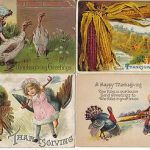16 Thanksgiving Turkey Holiday Greeting on Antique Postcards (Lot # B90)
