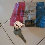 Antique vintage  Motorcycle Harley Davidson N.O.S. Fork Lock with Keys