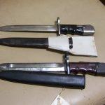 2 british english no.7 mk 1 bayonets   vintage dagger knife sword  antique knife