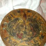 Antique Round Pantry Spice Decoupaged Box