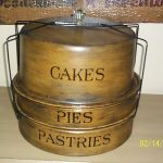 Antique /Primitive 3 Layer Dessert Cans/ Painted&Stenciled / Great Con.
