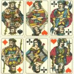 German ANTIQUE Playing Cards FROMMAN & MORIAN with ILLUSTRATED ACES c1895