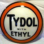 Antique original 1920s 15″ Tydol with Ethyl gas pump globe lens VG cond old