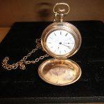 Elgin Men's  Pocket  Watch  15 J  w/ Gold filled Hanting Case & Chain  Working