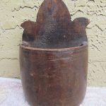 antique  candlebox  wood saltbox primitive salt box / candle  folk art wooden