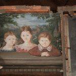 Antique Miniature Portrait of Three Children