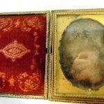 Antique 1800's Dag Type Daguerreotype  Group Portrait Of 3 Men  Tintype