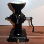 1878 ANTIQUE VINTAGE COFFEE GRINDER MILL MADE IN VIENNA AUSTRIA DATED PATENT