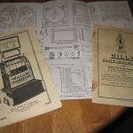 Lot of Mills Novelty Antique Slot Machine Catalogs