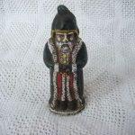 Antique Vintage Cast Iron Santa Claus Gnome Toy Bank