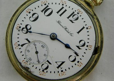 Illinois Watch Co.17 Jewels Gold Toned Pocket Watch #209C