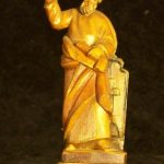 Antique Small Wooden Religious Statue (I don't know who is depicted)