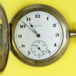 Circa 1916 Elgin Hunter Case Antique Pocket Watch 17j 8s 36.6mm RUNS