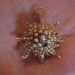 Antique Brooch Pendant 14k gold w/pearls 7 Grams Scrap or use