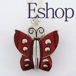 Red Fly Butterfly Style Pendant Necklace Watch GL8R