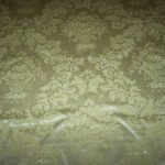 VINTAGE TABLECLOTH  LEMON COLOR   WITH  BEAUTIFUL DESIGN  SILKY THICK 84 X 60