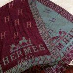 Hermes Authentic Genuine Rare Double Sided Monogram Horse Louboutin Shawl Scarf