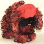 Antique Vintage GUND J. Swedlin Dog Pekinese Poodle Red Black Plush Animal RARE