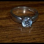 STERLING SILVER 925 RING VINTAGE ANTIQUE CUBIC ZIRCONIA SIZE 5.25 NOT SCRAP 4MM