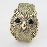 Coming Antique Vintage Style So Cute Fashion Bronze Owl Bangle Bracelet Free