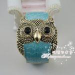 Coming Antique Vintage Style So Cute Fashion Owl Bangle Bracelet Blue Free