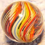 Antique German Handmade Divided Core Swirl Marble  Great Colors
