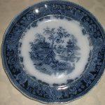 Antique Flow Blue Staffordshire 8 1/2″ Plate Shanghai EXCELLENT CONDITION