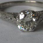 Stunning 1 carat Diamond solitaire,antique 18ct gold & platinum ring