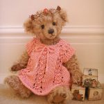 HAND KNITTED VINTAGE STYLE DRESS FOR AN 1112″  BEAR