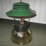"""RARE"" ANTIQUE VINTAGE AKRON 134G INSTANTGLO CAMPING LANTERN ALL ORIGINAL 1930s"
