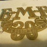 vintage grille emblem car  antique EMF 30 STUDEBAKER radiator trim brass era