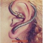 1Pc Vintage Antique Sexy Twine Wind Temptation Cuff Long Snake Stud Earring