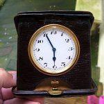Antique Traveling Clock NO RESERVE
