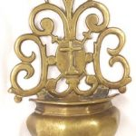 ANTIQUE BAROQUE BRONZE HOLY WATER FONT  ca 16001700 AD