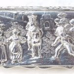 Antique Silver Snuff Box Chester Nathan and Hayes  N/R