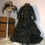 Exquisite Antique French/German 5pc Fashion Costume for Fashionable Doll