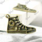 20 Antique Bronze Men's Women's Sport Shoes Charms Pendants 20x32mm TS5013