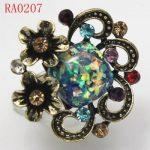 Stylish Crystal & Antique Bronze Adjustable Ring Free Shipping RA0207