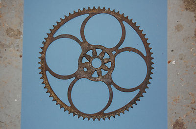 Extra Large Old Bicycle Sprocket 11 1/2″ Diameter 70 Tooth Early Antique